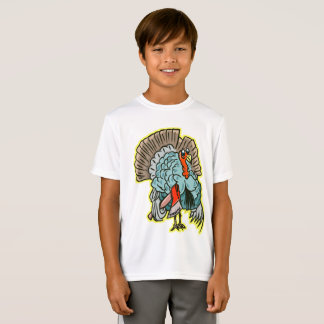 Turkey with an ax funny thanksgiving T-Shirt