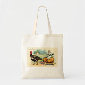 Turkey with Pumpkin Thanksgiving Tote Bag Bags
