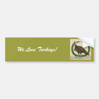Turkey Wreath Bumper Sticker