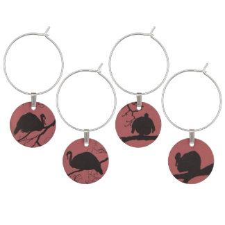 Turkeys in a Tree Wine Charm