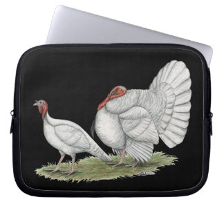 Turkeys White Holland Laptop Computer Sleeves