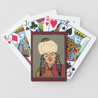 Turkic Woman Bicycle Playing Cards
