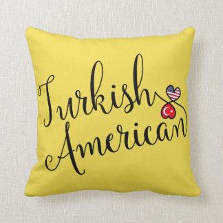 Turkish American Entwined Hearts Throw Cushion