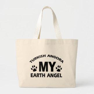 TURKISH ANGORA cat design Large Tote Bag