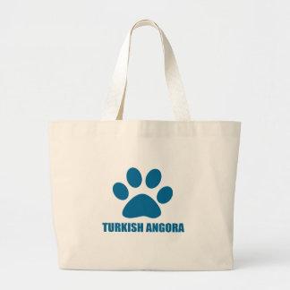 TURKISH ANGORA CAT DESIGNS LARGE TOTE BAG