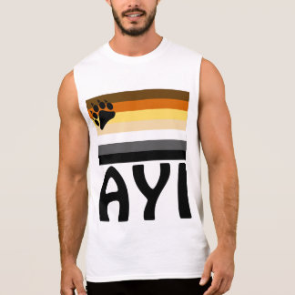 Turkish (Ayı)  Gay Bear Pride Flag Sleeveless Shirt