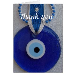 Turkish bead Amulet evil eye thank you card