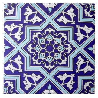 Turkish Blue Design Ceramic Photo Tile