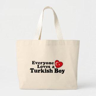 Turkish Boy Large Tote Bag