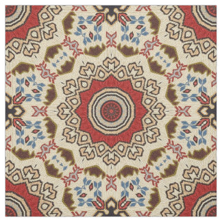 Turkish carpet kaleidoscope fabric