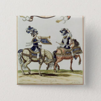 Turkish Drummer and Trumpeter 15 Cm Square Badge