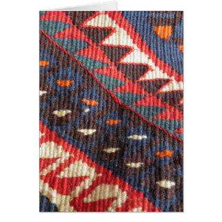 Turkish Exotic Bohemian Boho Ethnic Persian Carpet Card