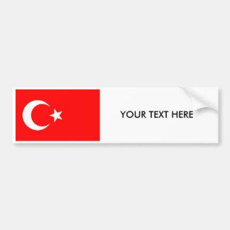 Turkish FLAG Bumper Sticker