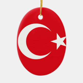 Turkish Flag Ceramic Ornament