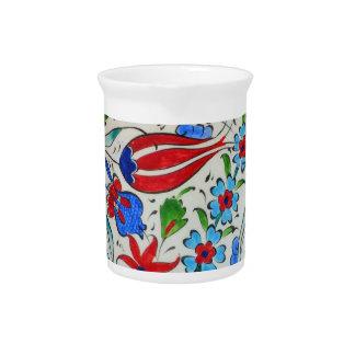 Turkish floral design beverage pitchers