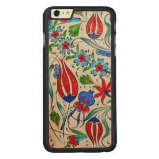 Turkish floral design carved® maple iPhone 6 plus case