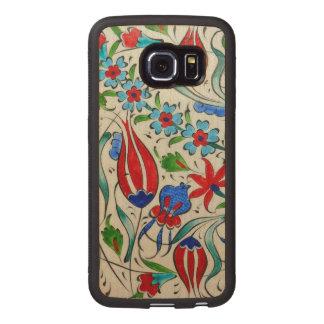 Turkish floral design wood phone case