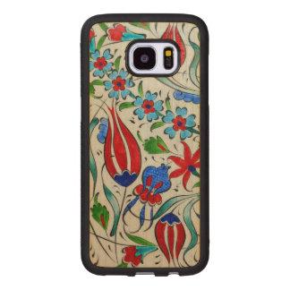 Turkish floral design wood samsung galaxy s7 edge case