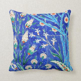 Turkish floral tiles cushion