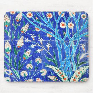 Turkish floral tiles mouse pad