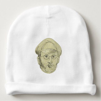 Turkish General Head Drawing Baby Beanie