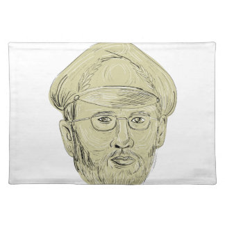 Turkish General Head Drawing Placemat