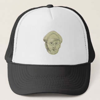 Turkish General Head Drawing Trucker Hat