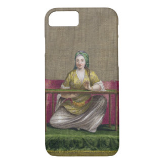Turkish Girl, embroidering, 18th century (engravin iPhone 7 Case