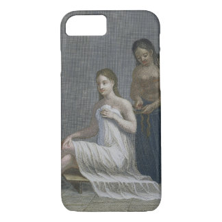 Turkish Girl, having her hair braided in the baths iPhone 7 Case