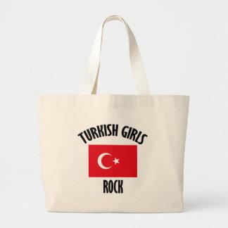 Turkish girls DESIGNS Large Tote Bag