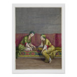 Turkish Girls, playing Mangala, 18th century (engr Posters