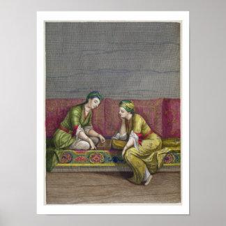 Turkish Girls, playing Mangala, 18th century (engr Poster