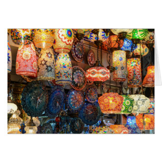 Turkish Glass Lamps for Sale in Istanbul Market Card