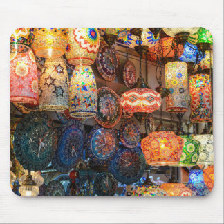 Turkish Glass Lamps for Sale in Istanbul Market Mouse Pad