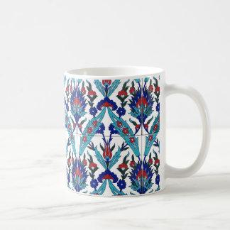 Turkish Iznik Floral Pattern Coffee Mug