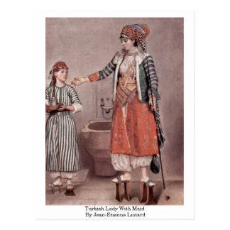 Turkish Lady With Maid By Jean-Etienne Liotard Postcard