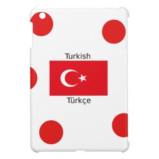 Turkish Language And Turkey Flag Design iPad Mini Covers