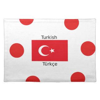Turkish Language And Turkey Flag Design Placemat