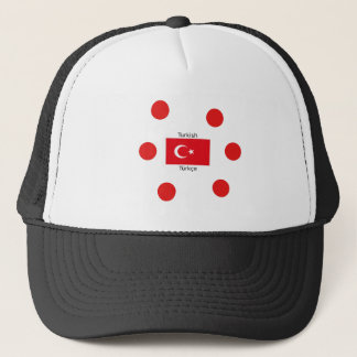 Turkish Language And Turkey Flag Design Trucker Hat