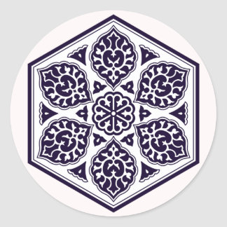 Turkish Ottoman Empire pattern 5 sticker round