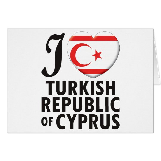 Turkish Republic Of Cyprus Love Card