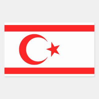 Turkish Republic of Northern Cyprus Rectangular Sticker