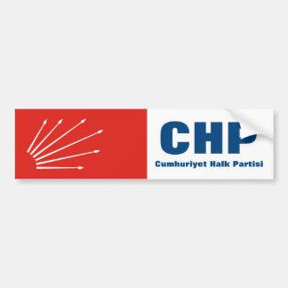 Turkish Repuplican Party CHP Bumper Sticker