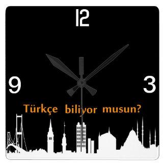 Turkish Skyline Clock