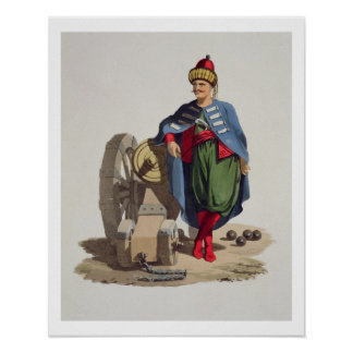 Turkish Soldier from Costumes of the Various Nat Print