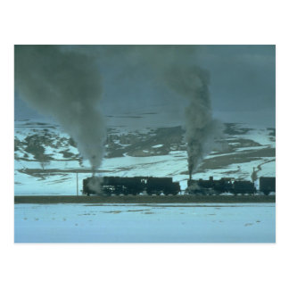 Turkish steam powers a freight from Sivas to Samsu Postcard