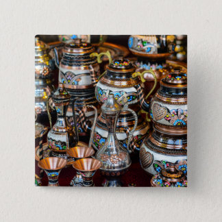 Turkish Teapots for Sale in Istanbul Turkey 15 Cm Square Badge