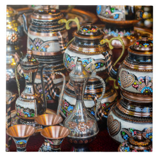 Turkish Teapots for Sale in Istanbul Turkey Ceramic Tile