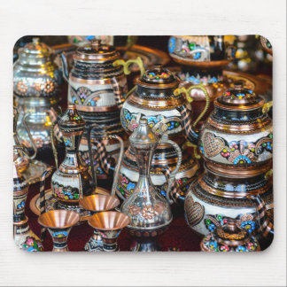 Turkish Teapots for Sale in Istanbul Turkey Mouse Pad