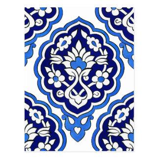 Turkish tile Postcard